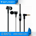 Factory supply wired headphone and OEM earplugs, wholesale metal earphone with microphone for phone