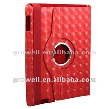 New arrival 2012!! water cube leather rotational case for ipad2 new ipad