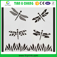 2016 custom made children paper cutting model drawing paper stencil/templates