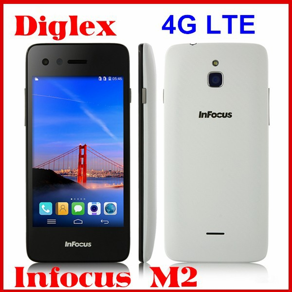 Foxconn Infocus M2 4G LTE Smartphone Quad Core MSM8926 Android 4.4 Mobile Phone 4.2 Inch 1GB RAM 8GB ROM 8MP Dual Sim Cellphone