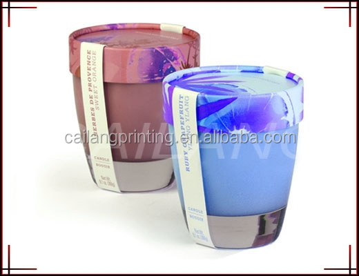 Plastic glass with paper tube lids wholesale match printed paper tube for glass/cup with display function