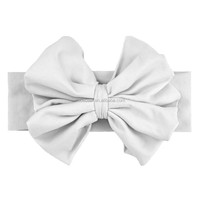 2015 Hot selling !!children's beautiful white fresh cheap hair bow&large hair bows