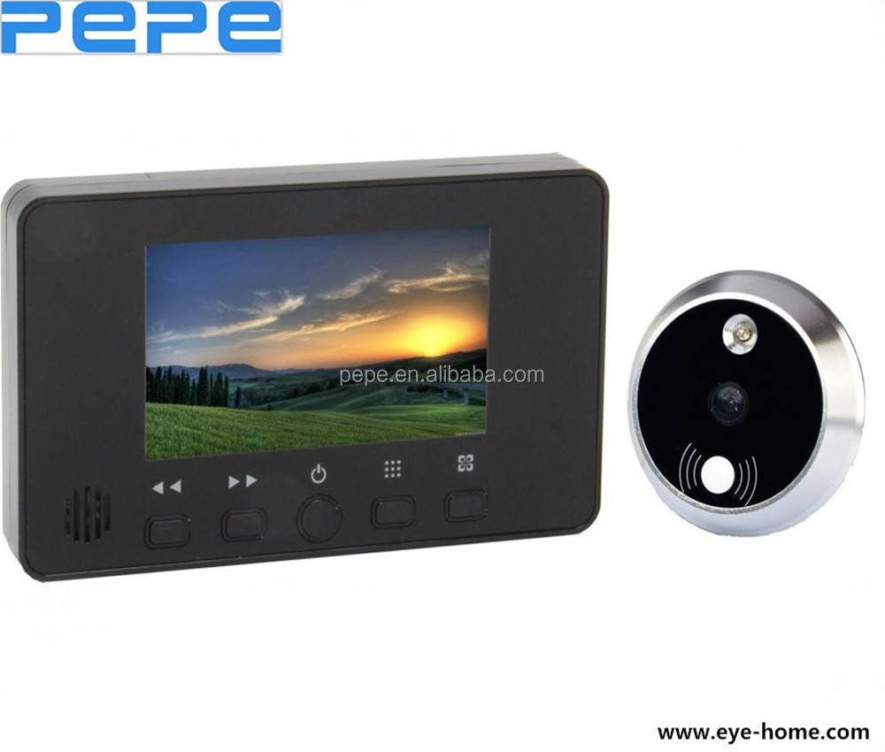 CE ROHS 4.3 inch LCD Door Viewer with Knocker