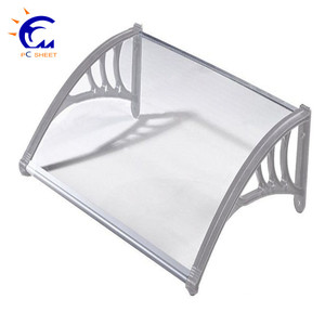 Polycarbonate aluminum cheap front door awning window rain awnings