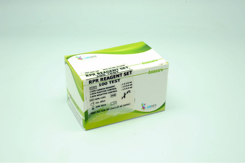 RPR Syphilis screening test ,VDRL RPR 100Test KIT ,VDRL TEST KIT