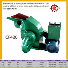 11kw electric elephant grass hammer mill with cyclone