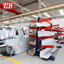 China Economical steel metal pallet tyre Cantilever shelf Storage Rack System