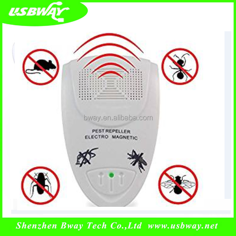 Chinese supplier electronic ultrasonic pest repeller reject anti mosquito repeller repellent 110V US plug