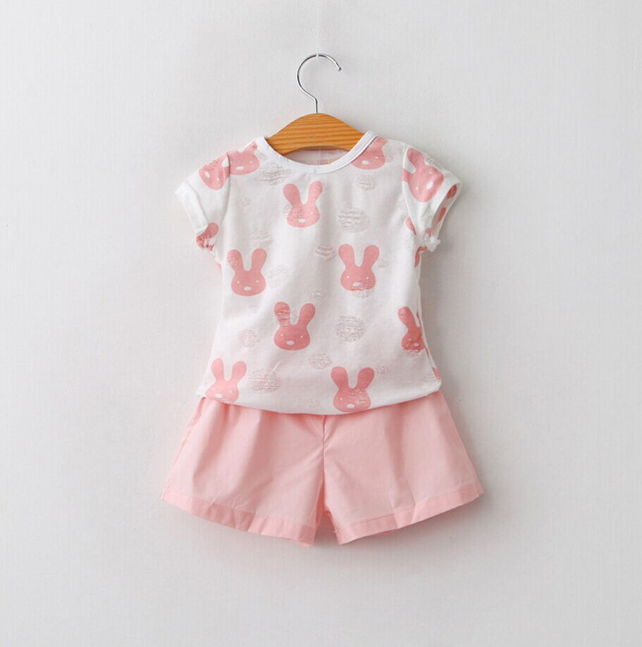 2016 Designer Outfits Baby Girls Lovely Bunny Tops And Hot