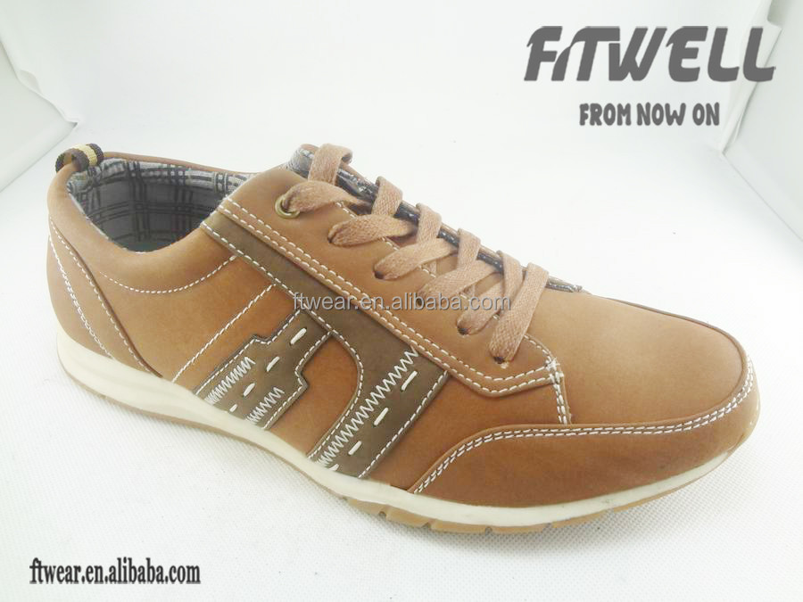 new color matching men pu footwear