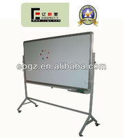 school moving whiteboard steel standard with locker wheels for classroom training room used marker pen