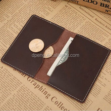 Fashional funky card holder wallet,personalized leather business card holder