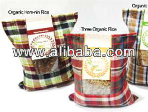 Brown Organic Wholegrain Rice from Nakorn-chaisri Province of Thailand