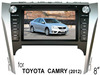 "(for Toyota CAMRY 2012) 8"" HD digital TFT auto DVD gps player, with TV,radio, bluetooth"