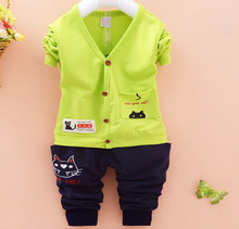 S10332A china hot sale high quality children two pieces set baby clothing wholesale