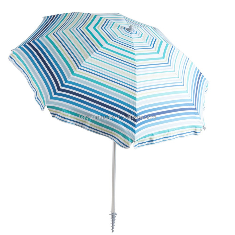 stripe heat transfer printing standard size beach umbrella newest
