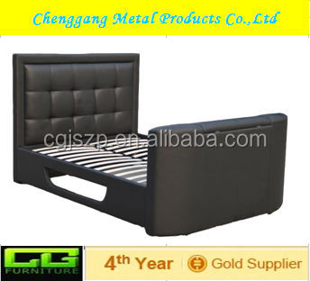high quality tv beds frame with DVD Cabinet