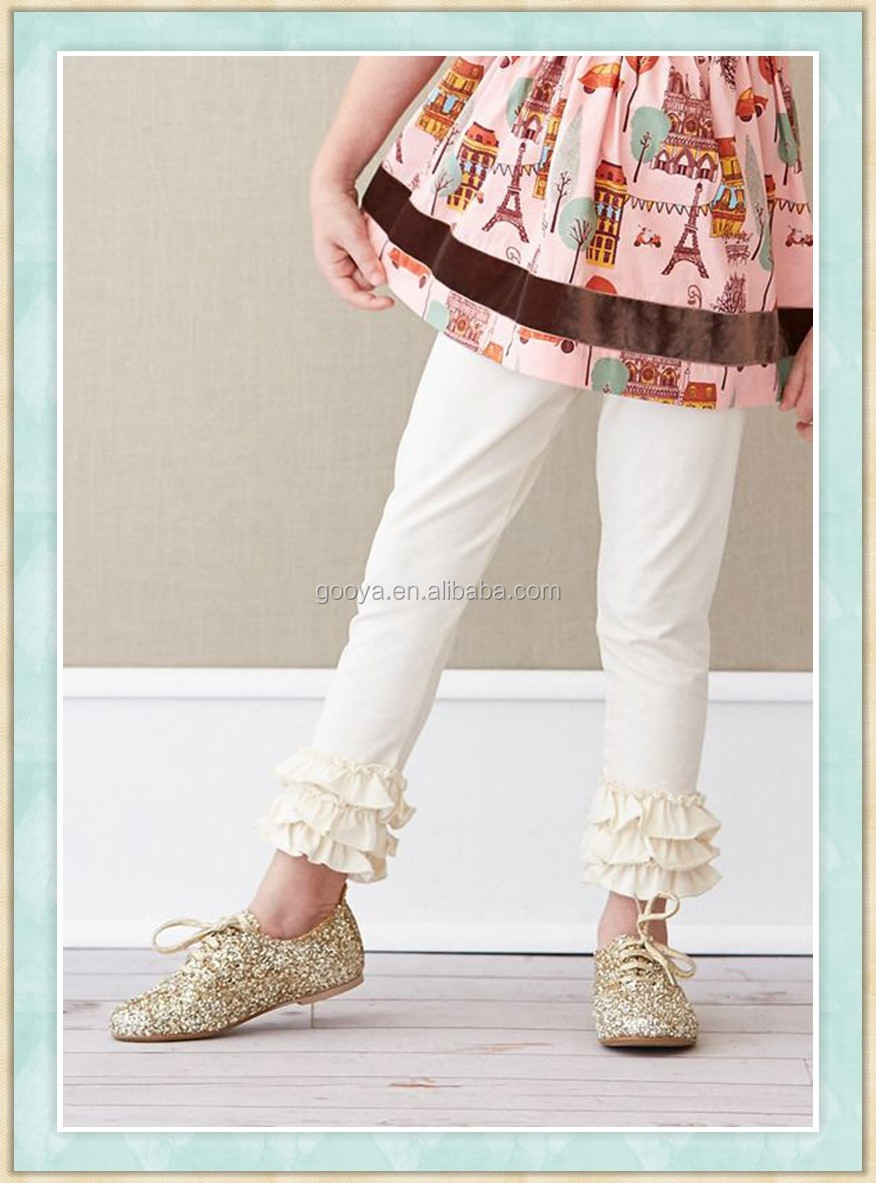 Denim Double Ruffle Pants In Boutique Sew Sassy Icing Legging ...