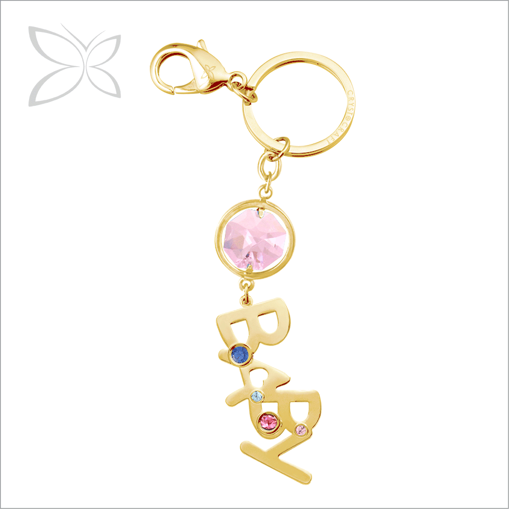 Specialized Charming Gold Plated Metal Crystal Key Chain