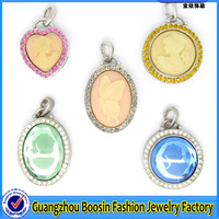 Factory direct wholesale pendant trays blank bezel charms for jewelry making