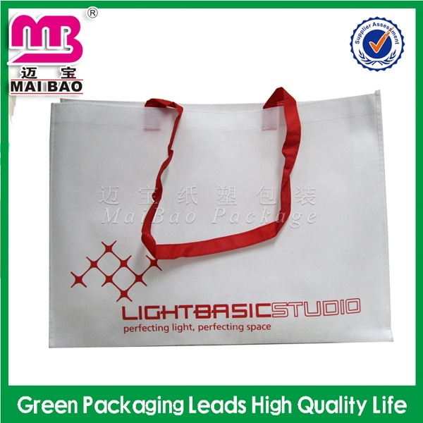 high class personalized non woven zipper tote bags