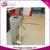 access control RFID card reader half-height tripod turnstile gate for gym