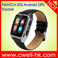 1.54 Inch IPS Screen GPS Tracker WiFi GPS SOS function Android Mobile Watch Phone TWATCH X02