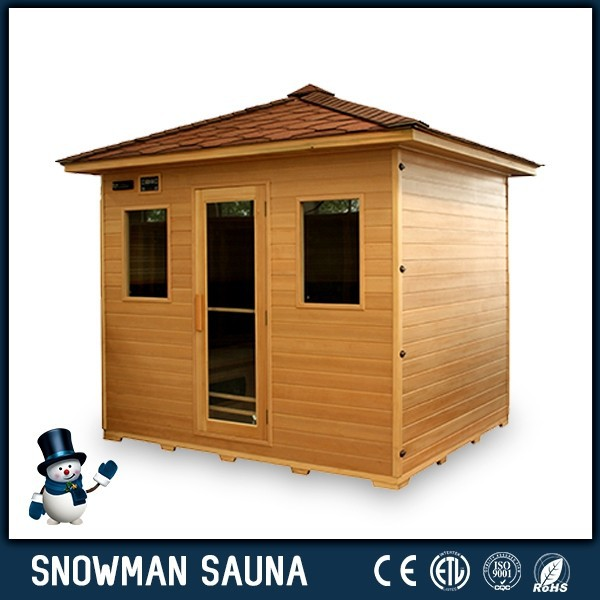 2015 new far IR garden waterproof infrared sauna for 4 person