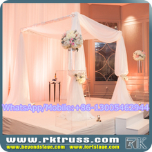 RK curved aluminum poles/wedding chuppah/wedding drapery rental/pipe and drape knits sale