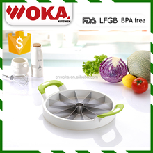 kitchen plastic water melon slicer cutter handy stainless steel food cutter