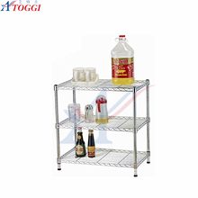 kitchen foldable chrome wire shelving with wheels used for easy storage