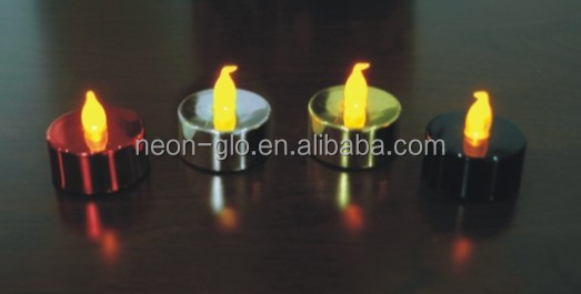CE&ROHS Party Decoration Cheap LED Metallic Tealight as a Flashing Gigt for Promotion
