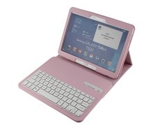 Leather Case with Silicone Keyboard, Bluetooth Wireless Keyboard Cover Case for Samsung P5200 10.1inch-SA102