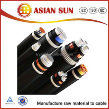 high voltage 4 core armored power cable size and current rating