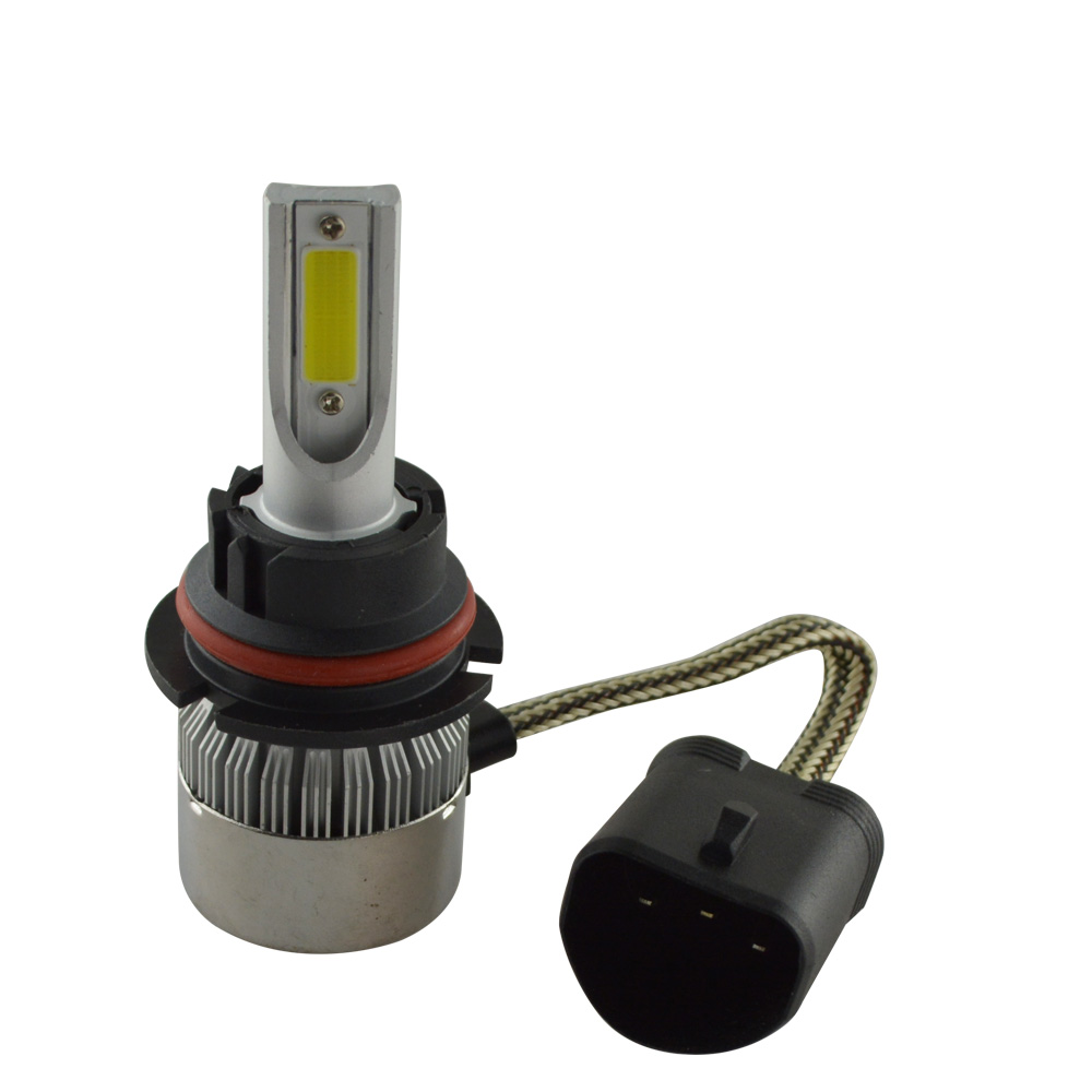 High power Low MOQ 72w 7600LM 12V 24V COB C6 9004 auto led headlight <strong>lamp</strong>