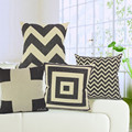Washable Black and White Stripe style sofa cushion cover