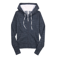 OEM personalized design cheap solid color blank cotton fleece fitted women hoodies with earphone