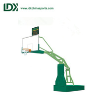 Professional indoor movable basketball stand hydraulic hoop stand tempered glass backboard