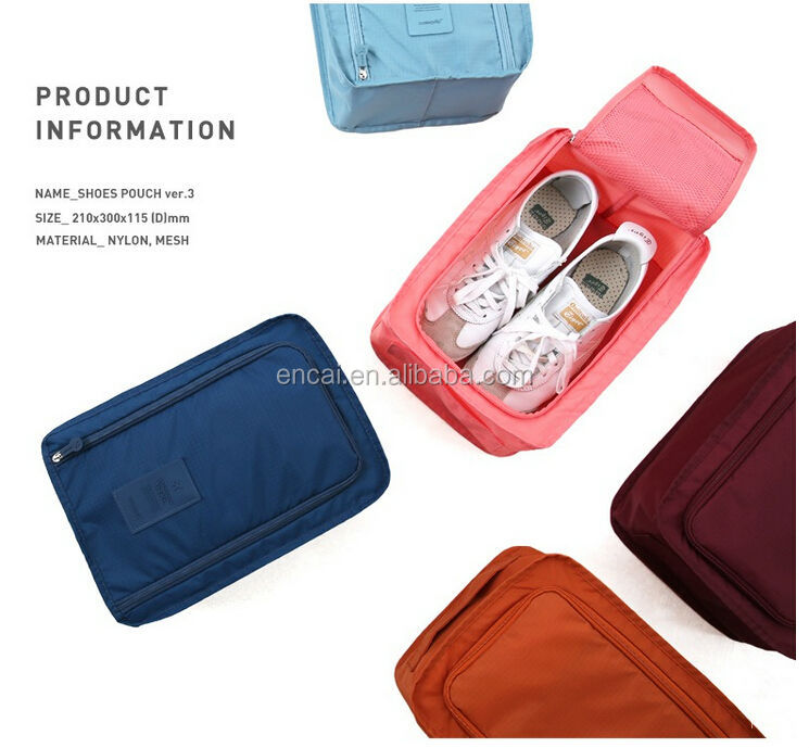 Encai Fashion Travel Organizer Shoes Bag Colourful Waterproof Folding Shoes Pouch With Handle(updated version)