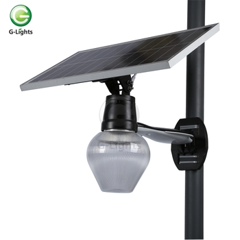 Outdoor aluminum IP65 waterproof 6w solar led garden light