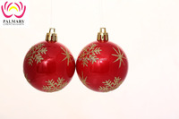 Popular Decorative Plastic Christmas Pearlized Ball For Christmas Ornaments
