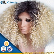 aliexpress short blonde tight curly human hair full lace wigs for black women