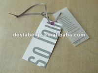 paper swing ticket for garment