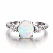 High Quality Opal Ring Wholesale Wedding Finger Cool Type Antique Gold Plating Rings Model