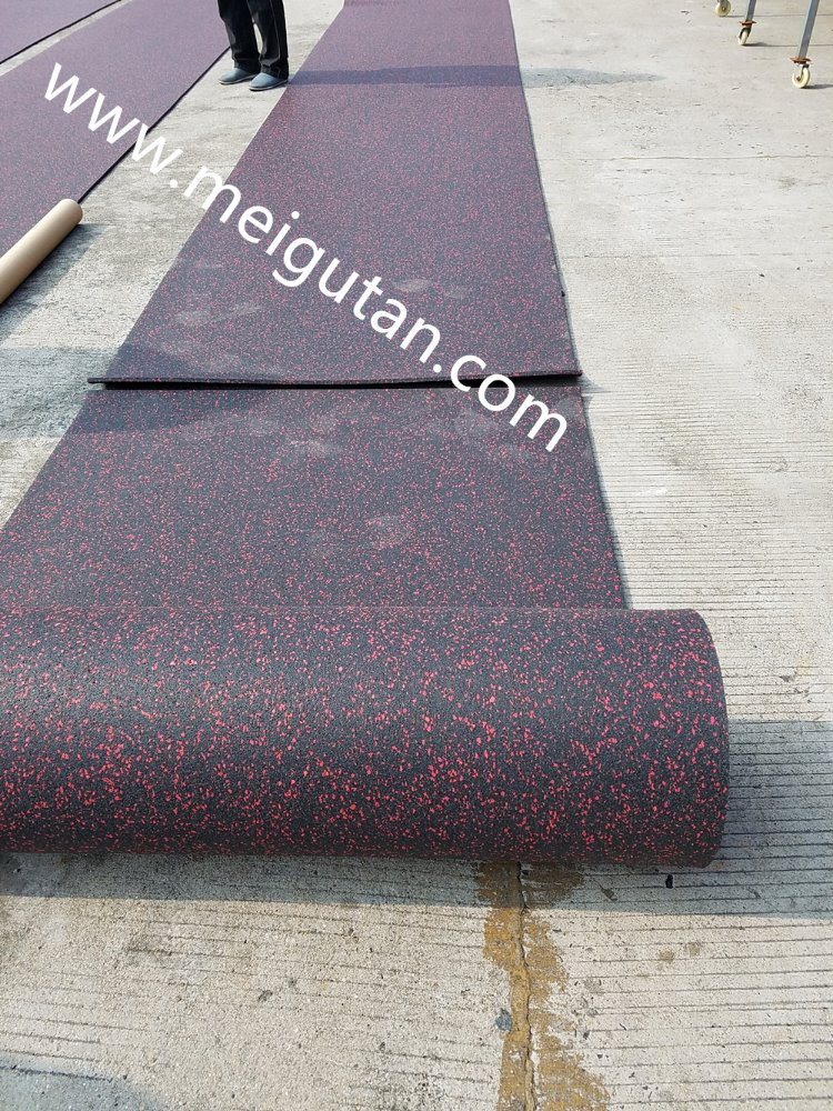 indoor and outdoor EPDM speckles gym rubber floor in roll