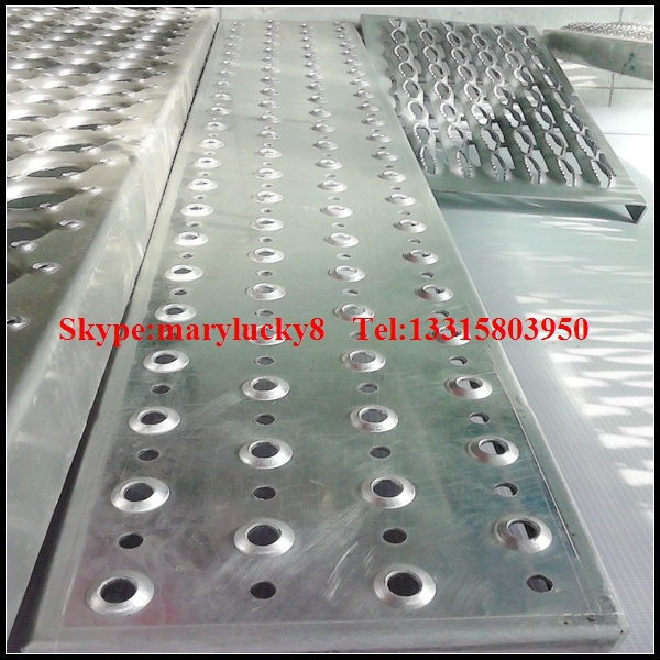 aluminum safety stair treads/perforated stair treads/aluminum sheet non slip stair treads