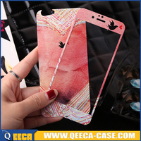 New// design glitter tempered glass screen protector for iphone 6 6s cartoon screen protector
