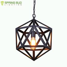 Unique design art decor black or rusty color E27 lamp holder one light iron metal retro pendent lighting fixtures