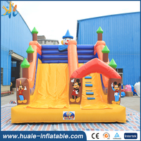 GuangZhou HUALE commerical cartoon inflatable slide for sale/ cheap inflatable slide for kids