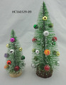 Popular Gifts green Fiber Optic Christmas Tree with mini ball ornament